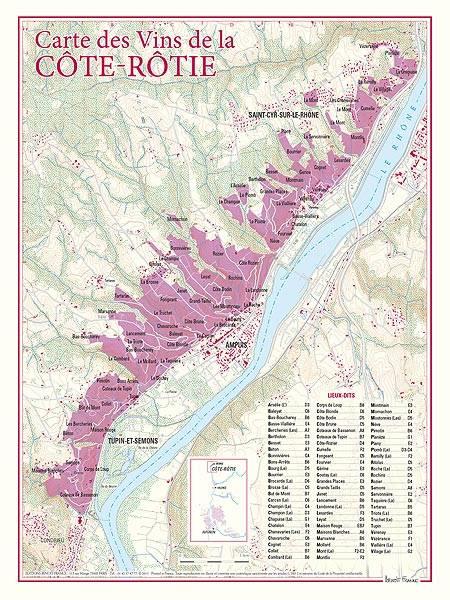 Carte lieux dits COTEROTIE